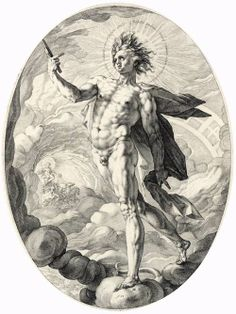 Hendrick GOLTZIUS, Dutch painter (1558-1617)      Apollo     1588     Engraving, 347 x 263 mm     Rijksmuseum, Amsterdam