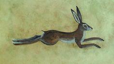 Run like the Wind  Running Hare Art Print by HoneybeeandtheHare