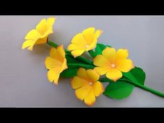 DIY: PAPER FLOWERS decoration ideas - Very Easy Paper Flowers Decoration at Home - YouTube