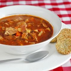 Turkey, Bacon and Tomato Soup
