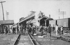 Train wreck in #Sidney, NY 1922.   #trains #trainwreck #DelawareCounty #history #accident #transportation