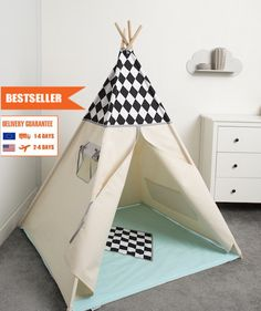 children teepee tent, kids play tent, tipi, teepee tent, set 6 elements indian wigwam Diamond 2 by cozydots on Etsy Kids Tents, Teepee Kids, Teepee Tent, Toddler Bed, Play, Children, Indian, Furniture, Diamond