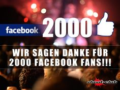 Wai sagen DANKE für 2000 Facebook-Fans! Ihr seit die Besten!