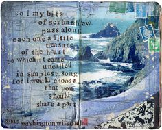 Anne Washington Wilson quote on a sketchbook page by Mae Chevrette