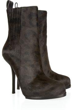 Alexander Wang Leopard-print calf hair ankle boots NET-A-PORTER.COM