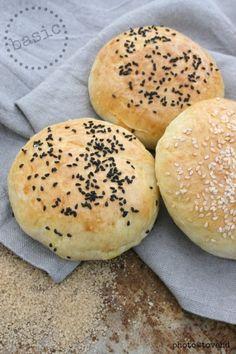 Homemade hamburger buns!