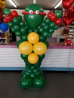 4 foot Balloon Ninja Turtle made by Balloon Factory 643 West Ave J Lancaster Ca 93534 (661) 949-0585