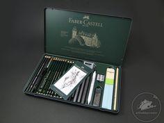 Pitt Monochrome grafit Faber-Castell set/ 26 buc. Creioane pentru grafică.