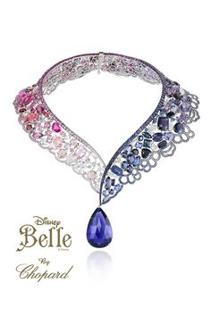 Belle by Chopard featuring 69-carat tanzanites, blue round sapphires, amethysts, pink sapphires and diamonds.