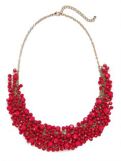 our fuchsia gem cluster necklace!