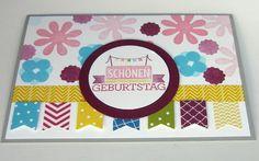 Farbenfrohe Geburtstagskarten mit Fähnchen  http://eris-kreativwerkstatt.blogspot.de/2014/08/farbenfrohe-geburtstagskarten-mit.html