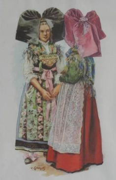 Elsass Alsace, Lorraine, France Outfits, European Costumes, French Costume, Alsatian, Illustrations, Folk Costume, World Cultures