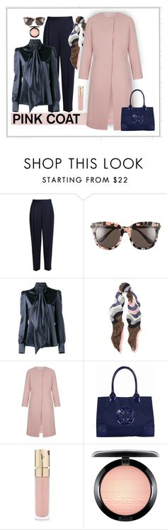 """""""Chic Coat"""" by patricia-dimmick on Polyvore featuring The Row, Gentle Monster, Yves Saint Laurent, Fendi, Tory Burch, Smith & Cult, MAC Cosmetics and pinkcoats"""