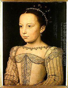 Francois Clouet:Marguerite de Valois (1553-1615) c.1561