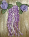 Purple Macramed Mini Barettes by ~BrigetteMora on deviantART