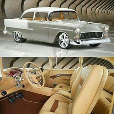 1955 Belair with a 435hp crate LS3 connected to a Tremec 6 speed