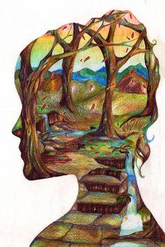 Mind map by sivvus art. Mind Map Art, Mind Maps, Collage Magazine, A Level Art Sketchbook, Sketchbook Ideas, Modern Painting, Jr Art, Deco, Art Lessons