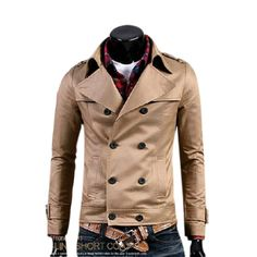 Men's Double Breasted Short Jacket