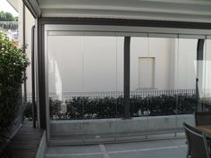 Glass doors folding to the side without an entrance door The glass doors fold up to the mounted side. Also available without floor guide rail. Can be opened internally or externally. Glass Structure, Conservatories, Create Space, Entrance Doors, Glass Doors, Gazebo, Windows, Flooring, Building