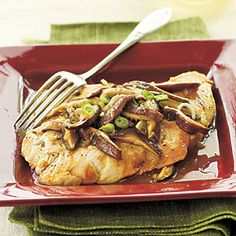 Chicken and Shiitake Marsala | MyRecipes.com #myplate #protein