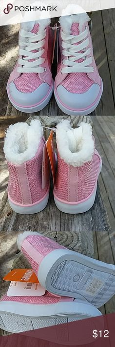 NWT Fur trimmed glitter hi tops Size 6, NWT, by Gymboree Gymboree Shoes Sneakers