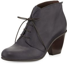 Coclico Genet Leather Lace-Up Boot, Navy on shopstyle.com