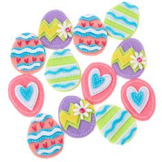 Shop at card factory for easter greeting cards and gifts card assorted easter egg felt stickers negle Images