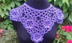 Crochet Pattern  Irish Rose Collar by DesignedbySonya on Etsy