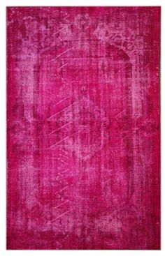 Rugs USA Overdyed Provenical Wool Knotted Pink Rug