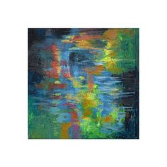 """Daily Painters Abstract Gallery 'Water's Poetry #8"""" Small Acrylic... ❤ liked on Polyvore"""
