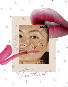Collage using all of my Images except Model Image by Dazed, LipS UNKNOWN (just used as reference) Web Design, Layout Design, Graphic Design, Collages, Collage Art, Editorial Design, Makeup Art, Illustration, Artsy