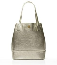 Metallic Michelle Tote: Tory Burch