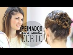 Peinados fáciles para cabello corto. Easy hairstyles for short hair.