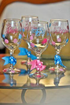 Custom Wine Glasses $12