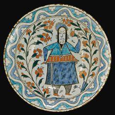 An Iznik Polychrome Pottery Dish, Turkey, 17th Century | Lot | Sotheby's