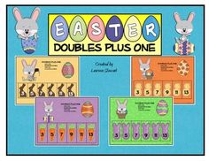 Enjoy this free Doubles Plus One Easter math work station!Doubles Plus One is a super way to practice mental math strategies. Students need to ...