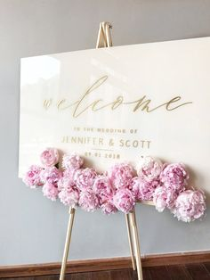 Eclectic Decor Acrylic Wedding Sign White Plexiglass Wedding Welcome Sign . - Eclectic decor Acrylic wedding sign White plexiglass wedding welcome sign - Perfect Wedding, Diy Wedding, Wedding Ceremony, Wedding Venues, Dream Wedding, Wedding Day, Wedding Hacks, Wedding White, Spring Wedding
