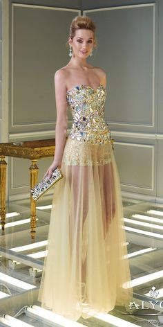 Alyce 2334 Dress $310.99 Strapless Prom Dresses and Evening Dresses