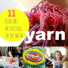 11 Kids Art Activities to Try with Yarn -- Fun ideas!