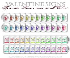 Valentine Mugs . Because Love comes in all Colors. Asl Words, Finger, Valentines Mugs, Alphabet Charts, All The Colors, Posts, Fun, Blog, Messages