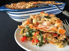 Stacked vegetarian enchiladas that are packed with flavor and nutrients! #FatFridaysForever