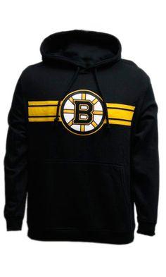 Boston Bruins Bar Stripe Applique Sweater