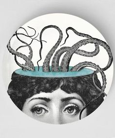 octopus 4 Original Melamine plates with a by TheMadPlatters, $18.00