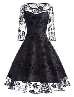 Vintage Women Lace Dress 2018 Long Sleeve O Neck Black Solid Robe Femme Retro Elegant Summer Party Dress Vestidos De Festa online shopping mall, buying fashion dresses & rapid delivery. Start your amazing deals with big discounts! Pageant Dresses, Day Dresses, Dresses Online, Cute Dresses, Ladies Dresses, Floral Dresses, Autumn Dresses, Halter Dresses, Awesome Dresses