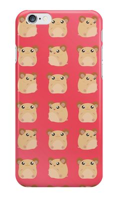Kawaii Hamster - On Red Background by jimadoriicrafts