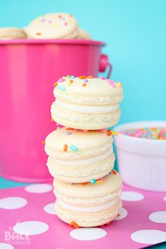 Birthday cake macarons! Who needs cake?!