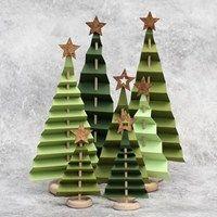 Juletræer i foldet papir