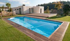 piscina rectangular con escalera romana modelo nilo