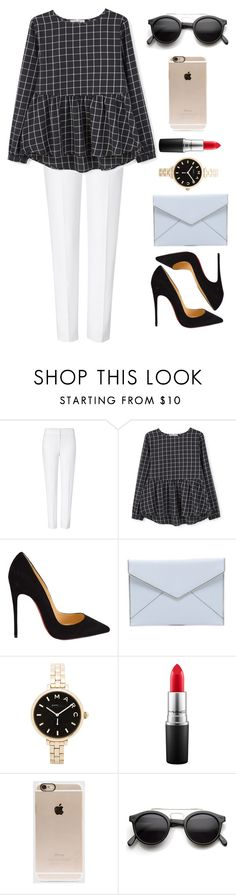 """""""Untitled #94"""" by afifahazhr on Polyvore featuring ESCADA, MANGO, Christian Louboutin, Rebecca Minkoff, Marc by Marc Jacobs, MAC Cosmetics, Incase, Retrò, women's clothing and women's fashion"""