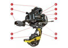 Know Your Rear Derailleur Get acquainted with your derailleur for easier repairs and smoother shifts. Bike Run, Mtb Bike, Bike Trails, Mountain Bike Shoes, Mountain Biking, Velo Dh, Bicycle Maintenance, Bike Parts, Cycling Bikes